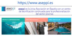 ASEPPI lanza su nueva web con el compromiso de apoyar el sector de la piscina