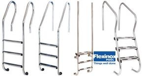 Flexinox Pool lanza sus escaleras de acero electropulido