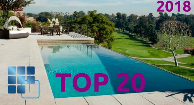Lo mejor del 2018, nuestro TOP 20 en piscinas, wellness y outdoor