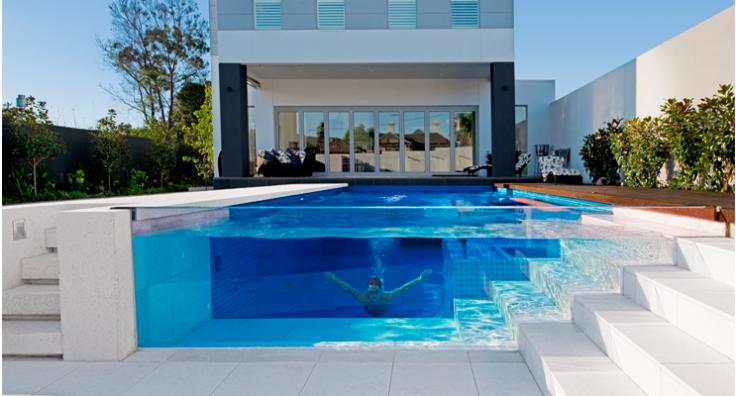 Vídrio acrílico y piscinas